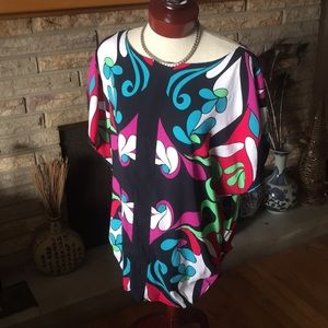 Nicole Miller Top Bright for Spring! Sz Large NWOT